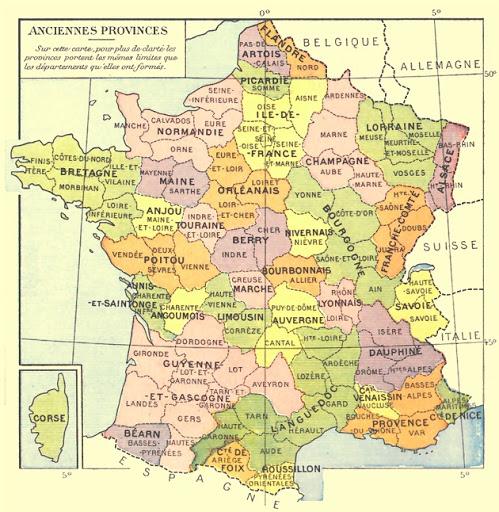 anciennes provinces